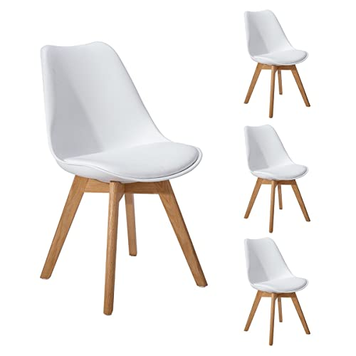 White Chairs Oak Legs Amazoncouk