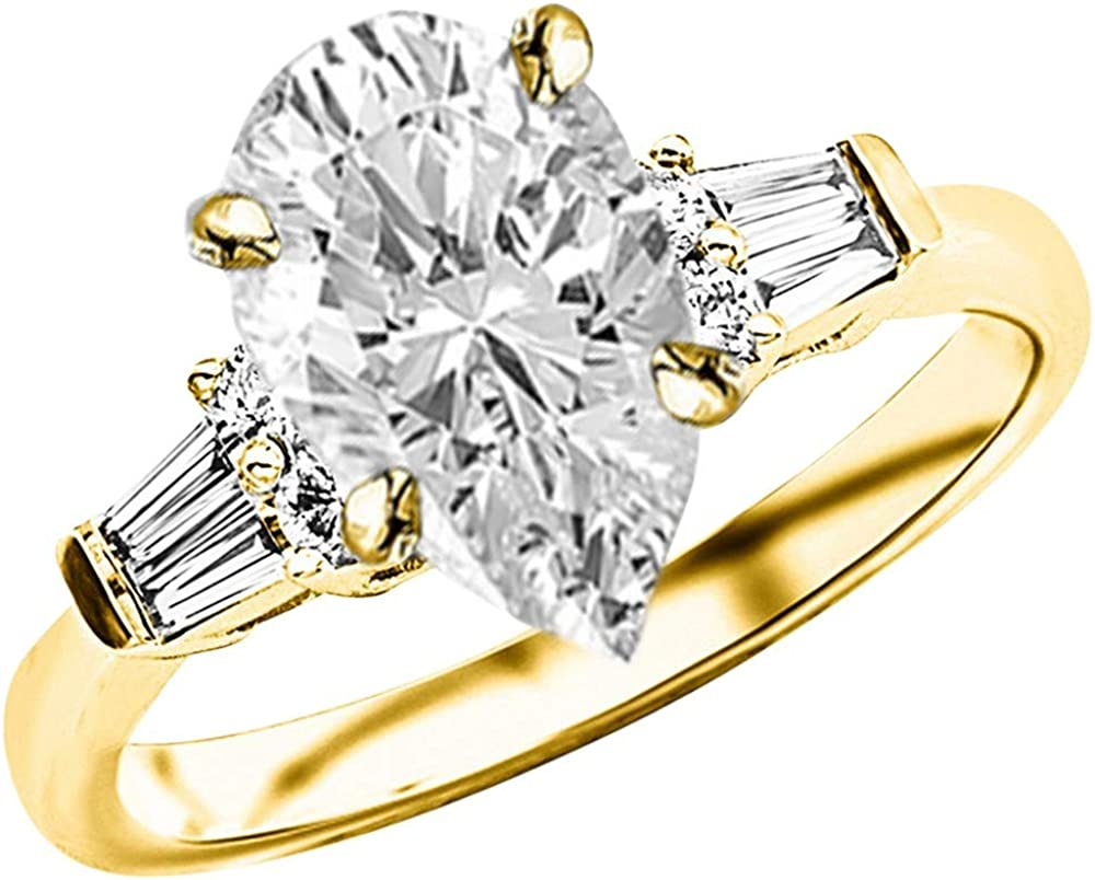 Max 60% OFF 1.25 Ctw 14K White Gold And Round Designer Alternating Sale special price Baguette