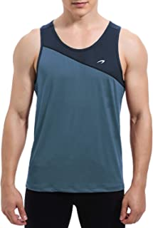 KPSUN Men's Workout Tank Tops Quick Dry Athletic Gym Sleeveless Shirts for Bodybuilding,Training,Running,Jogging,Fitness