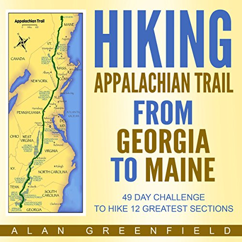 Hiking Appalachian Trail from Georgia to Maine audiobook cover art