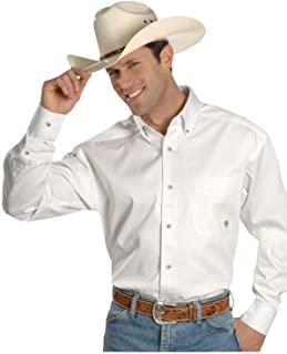 Solid Twill Classic Fit Shirt - Men's Long Sleeve Western...