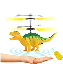 Anda RC Flying Helicopter Dinosaurs Dragon Toys for 6 Year Old Boys Girls Kids, Mini Remote and Hand Controlled Dinosaurs Helicopter for Birthday Holiday Xmas