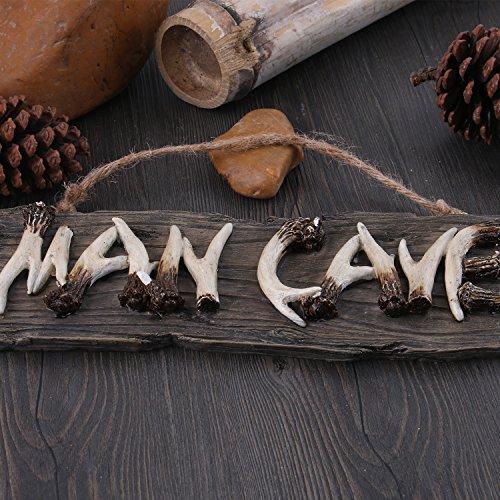 Liberty Imports Man Cave Hanging Wall Sign Decorative Mancave Wooden Novelty Decor