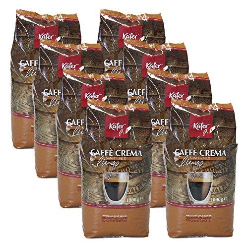Käfer Caffè Crema, 1000g, ganze Bohne 8er Pack
