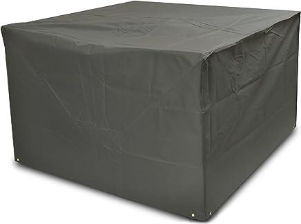 Woodside Heavy Duty Waterproof Rattan Cube Outdoor Garden Furniture Rain Cover, Grey, Heavy Duty 600D Material, 5 YEAR GUARANTEE