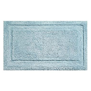 "InterDesign Microfiber Spa Bathroom Accent Rug, 34"" x 21  Inches, Water"