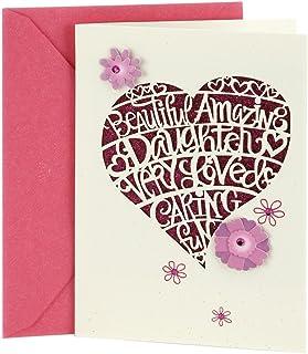 Hallmark Birthday Card for Daughter (Heart Cutout)