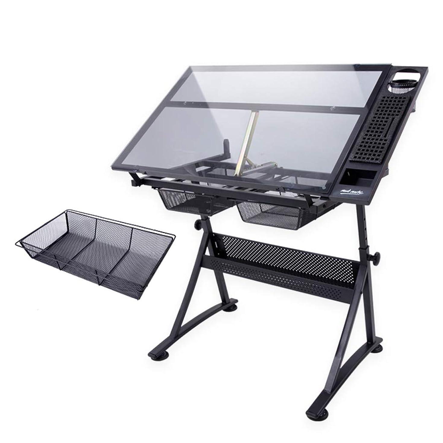 雷雨ペネロペ文庫本HBJP 絵画およびデッサンのテーブル、調節可能なデッサンのテーブルデザイナーテーブルの長さ1022mm、幅600mmを上げ下げすることができます イーゼル