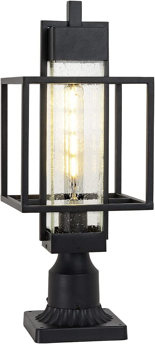 Outdoor Post Light Exterior Post Lantern with 3-Inch Pier Mount Base,20