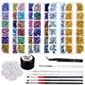 Selizo 8240pcs Nail Rhinestones, Rhinestones for Nails, Nail Gems Crystals Nail Art Rhinestones Supplies with Rhinestone Glue for Nails Art Decoration
