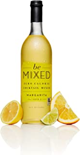Zero Calorie Margarita Cocktail Mixer by Be Mixed | Low Carb, Keto Friendly, Sugar Free and Gluten Free Drink Mix | 25 ounce Glass Bottle, 1 Count