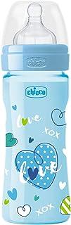 ببرونة اطفال بلاستيك ويلبينج من شيكو، تدفق متوسط، 250 مل، ازرق، 20623220000