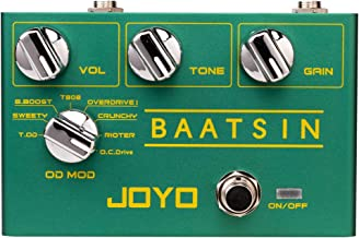 JOYO R-11 Baatsin Distortion and Overdrive Pedal Multi Effect Pedal Pure Analog Circuit with 8 Different OD/DS Effects