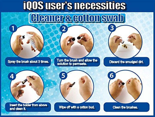 COSnu The Cleaner Exclusive for iQOS®, COSnu 50ml + COSnu Cleaning Sticks 100 pcs Cotton Swab