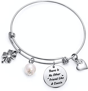 TzrNhm Blossom Cousin Jewelry Gift There no Other Friend Like a Cousin 手镯手链