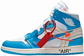 Air Jordan 1 Retro High Off White University Blue UNC THE TEN North Carolina