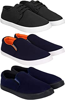 Bersache Men Combo Pack of 3 Casual Loafer Shoe with Sneaker