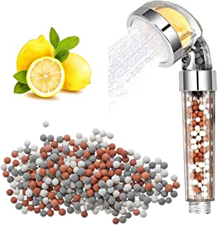 High Pressure Shower Head Filter - Shower Head with Hose Hard Water Filter Softer with Mineral Stone Remove Chlorine and H...