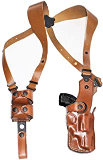 Premium Leather Vertical Shoulder Holster System with Double Speed Loader, for Smith Wesson Model 15 38 Special 2