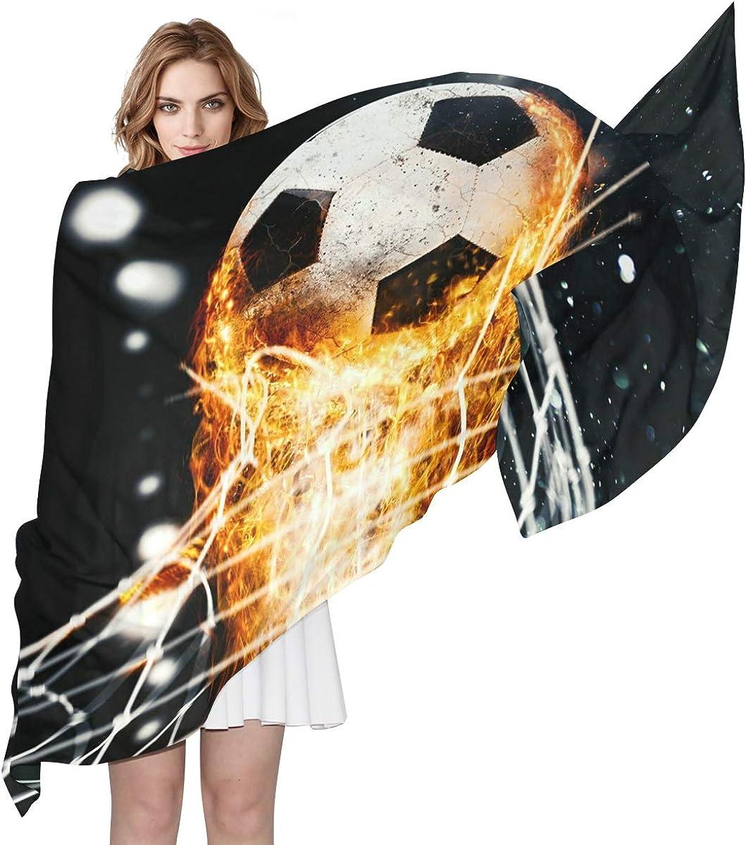 XLING Fashion Scarf Burning Football Soccer Long Lightweight Sunscreen Scarf Shawl Wrap Muffler Neckerchief for Women Men