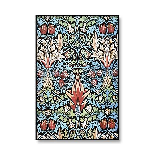 Póster de flores Vintage, exposición de William Morris, lienzo impreso, pintura de arte de pared, cuadro familiar, lienzo sin marco, pintura A4 50x75cm