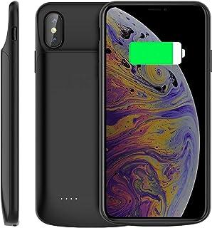 ebdaa2b784f Happon Funda Bateria iPhone XS MAX, 6000mAh Batería Cargador Externa Ultra  Carcasa Batería Recargable Power