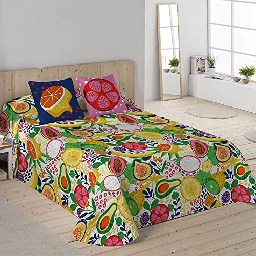 NATURALS Colcha bouti Fruits Cama 105
