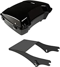 TCMT Chopped Tour Pak Pack Trunk W/Black Latch + Mounting Rack Fits For Harley Street Road Gilde 1997-2008 (Black Latches)