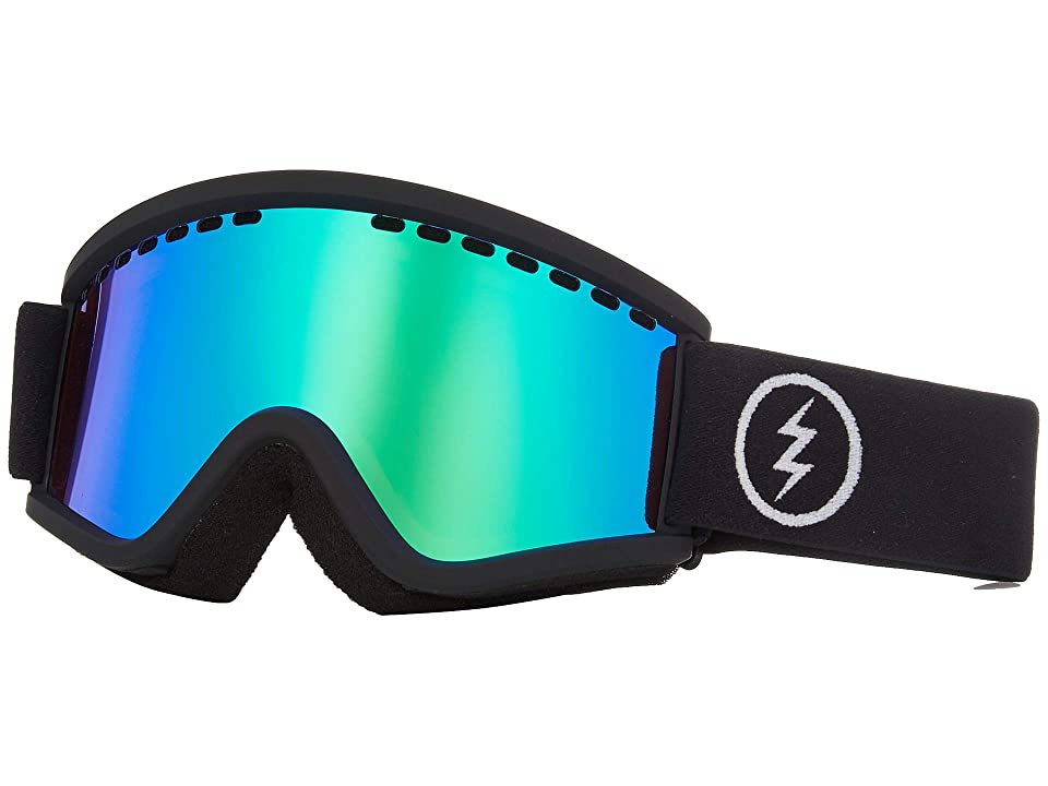 Electric Eyewear EGV.K (Matte Black Brose/Green Chrome) Athletic Performance Sport Sunglasses