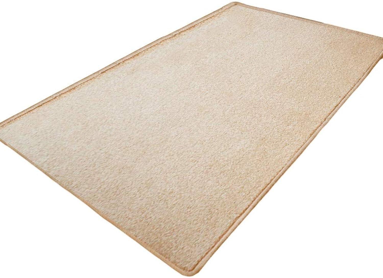 JIAJUAN Front Doormat Non-Slip Thicken Comfortable Living Room Kitchen Bedroom Entryway Area Rug Inside Door Mat (color   Beige, Size   100 x 100cm)