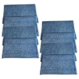 Crucial Vacuum Replacement Mop Pads Compatible with Haan Part # RMF2,RMF2P,RMF2X,RMF4,RMF4X & Models MS30,MS30, MS30R, MS35, SI25, SI35, SI35G, SI35R, SI35BCRF, SI38, SI40, SI45Q, SI46, SI60 (8 Pack)