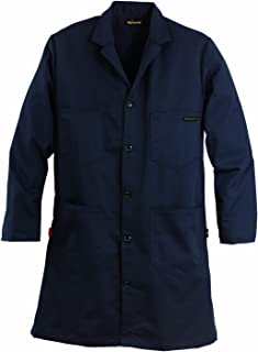 Workrite FR Flame Resistant 9.5 oz Ultrasoft Lab Coat, X-Large, Regular Length, Navy Blue