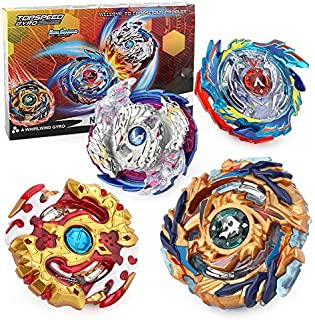 مجموعة Scrid D Toy Bey Battle Burst Battling Top gyro Attack Metal Fusion Evolution مع الحلقة، مقبض قاذفات (ذهبي)
