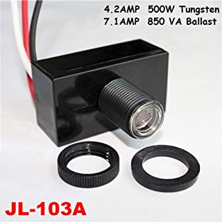 JL-103A Resistor Dawn Sensor Photoelectric Switch Led Control 120V Light Dusk Flush Mount Button Photo Eye Photocell