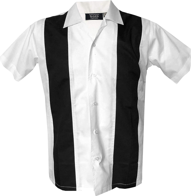 Rockabilly Fashions Mens 半額 人気ショップが最安値挑戦 Casual 1960s Shirt Bow 1950s