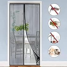 Cortina Mosquitera Magnética para Puertas, Mosquitera Puerta Magnetica Contra insectos 100X210cm Cierre automático y Instalación fácil Mosquitera Magnética para Salón Balcón Corredor, Negro