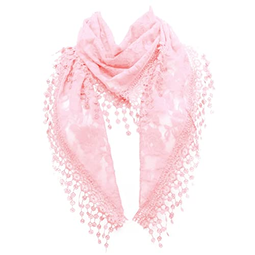 Beautiful /& Elegant Pink Lace Scarf *Fast Delivery
