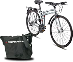 Montague Urban 21 Speed Folding Mountain Bike, Folding Bicycles for Adults, Folding Bicycle, Folding Bike, Bike Bundled with Carrying Case Bag and Outdoors Equipments Guide Book