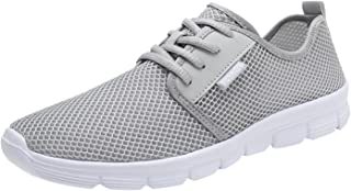 Fitzac Paar Herrenschuhe Mode Mesh Atmungsaktive Spitze Laufen Sneakers 40-45 Outdoor Sport Walkingschuhe