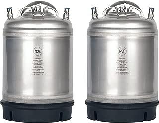 Two New 2.5 Gallon Ball Lock Kegs -Single Handle + Free O-Ring Kit