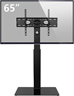 Rfiver Universal Swivel Floor TV Stand Base with Space Saving Design for Most 32
