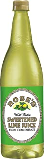 Rose's Sweetened Lime Juice, 1 L bottles (33.8 fl. oz. 1 qt.1.8 fl. oz.) (1 pack)