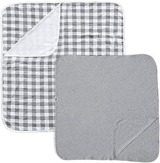 First Essentials Baby Blanket, Girls Receiving Blankets, 100% Cotton, Soft & Warm Nap Blanket (2-Pack)