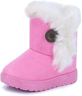 Vorgelen Botas de Nieve para Niños Invierno Felpa Botines Calentar Botas de Nieve Bebés Antideslizantes Zapatos Botas