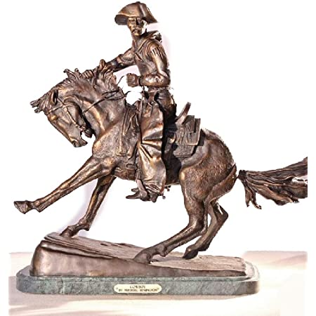 Handcrafted bronze sculpture SALE Country Horse Cowboy Remington Frederic DEAL