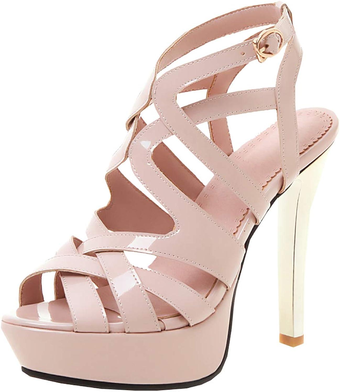 Artfaerie Womens Caged Platform High Heels Peep Toe Stiletto Sandals Slingback Summer shoes