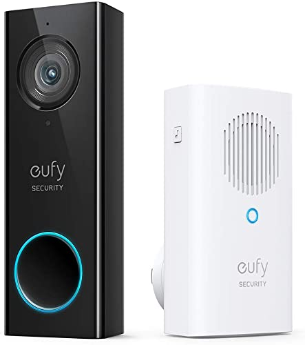 high quality eufy Security, Wi-Fi Video Doorbell, 2K Resolution Video doorbell lowest Camera, No Monthly Fees, Secure Local Storage, Human Detection, 2-Way Audio, Free Wireless Chime-Requires Existing Doorbell popular Wires online