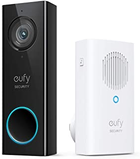 eufy Security, Wi-Fi Video Doorbell, 2K Resolution, No Monthly Fees, Secure Local Storage, Human Detection, 2-Way Audio, F...