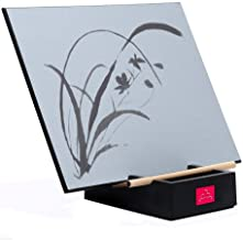 The Original BUDDHA BOARD:Relaxing Water Painting with Bamboo Brush & Stand, Mindfulness & Meditation Practice, Environmentally Friendly.Zen Concept Live in The Moment. Master The Art of letting go.