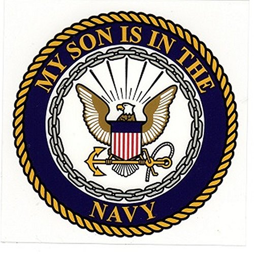 My Son is in The Navy with Logo 4'x4' Decal